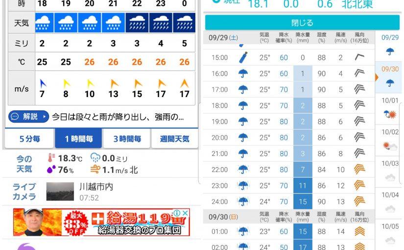 本日は営業致します、夜は台風次第でお休みするかもしれません。