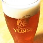 秋なので生ビールが琥珀エビスに変わりました!